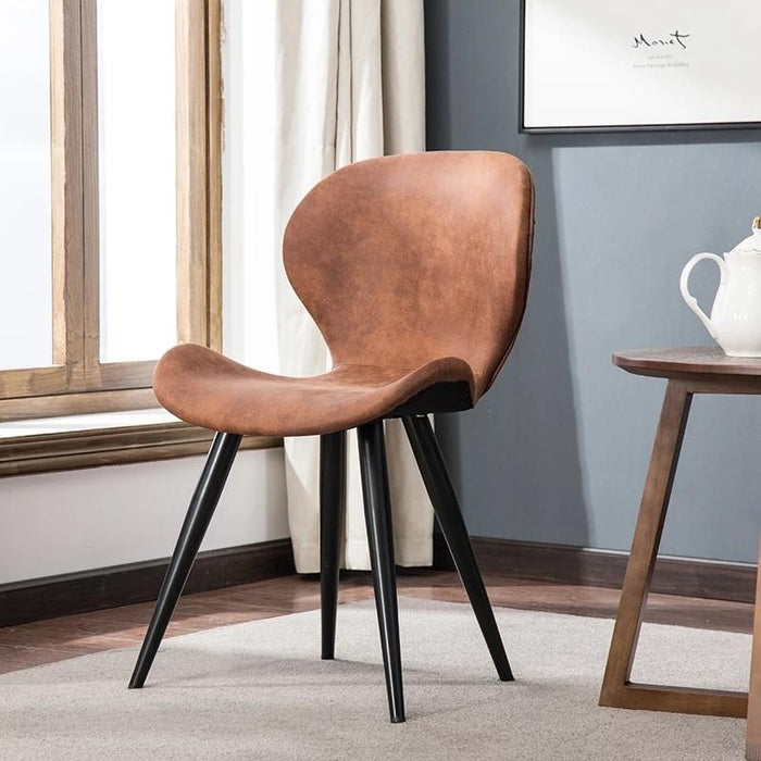 HAZEL Contemporary Faux Leather Dining Chair