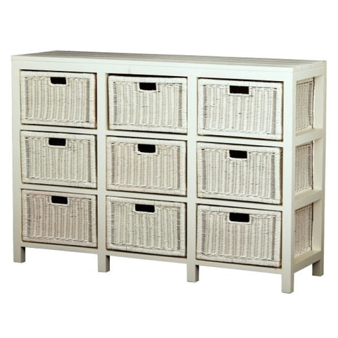 Coastal Living 9 Drawer Rattan Cabinet Size 136W 40D 95H Chest of Drawers Commode TEK168 SB-009-RT ( Picture Illustration Colour for Reference Only ) ( MJ14DM Colour )