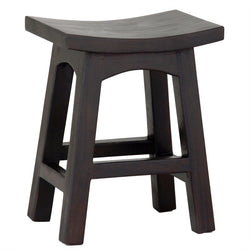 Amst Solid Teak Timber 48cm Table Bar Stool, Chocolate Color BR-048-WD-C_1
