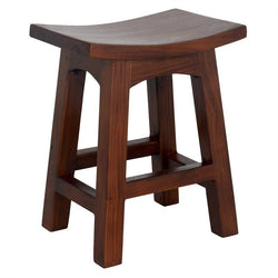 Amst Solid Teak Timber 48cm Table Bar Stool, Mahogany Color TEK168BR-048-WD-M_1