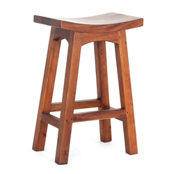 Amst Solid Teak Timber 67cm Counter Bar Stool, Light Pecan TEK168BR-067-WD-LP_1