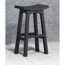 Amst Solid Teak Timber Bar Stool, Chocolate TEK168BR-077-WD-C_1