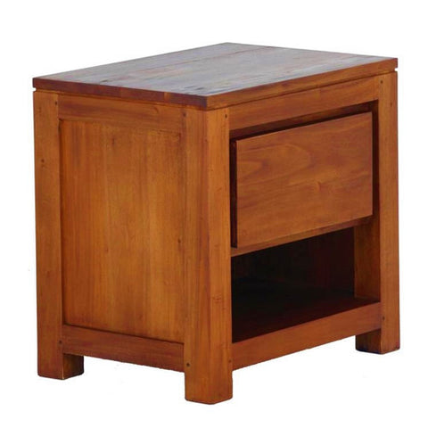 Amsterdam 1 Drawer Bedside Table Full Solid TEK168 BS 001 TA Side Table