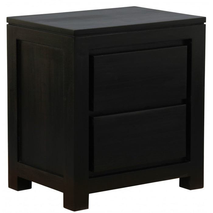 MP - Amsterdam 2 Drawer Bedside Table BS 002 TA  Side Table ( Chocolate Colour )
