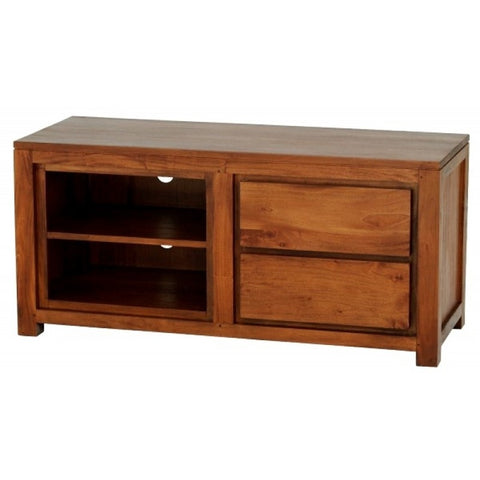 1 Member Special - Amsterdam TV Console 2 Drawer Entertainment Unit TEK168SB-002-TA ( Light Pecan Color )