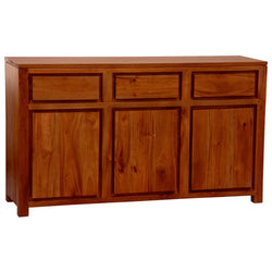 Franeker Amsterdam Buffet Sideboard 3 Drawers 3 Door Cabinet Full Solid  SB 303 TA TEK168 SB 303 TA EC ( Picture Illustration Colour for Reference Only ) ( Mahogany Color  )