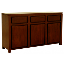 Franeker Amsterdam Buffet Sideboard 3 Drawers 3 Door Cabinet Full Solid TEK168 SB 303 TA ( Mahogany Color  )