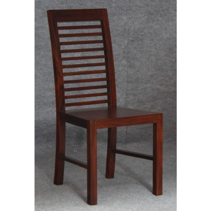 Amsterdam Dining Chair with Cushion Set of 2 Piece TEK168 CH 000 HSR with Cushion ( Mahogany Colour )