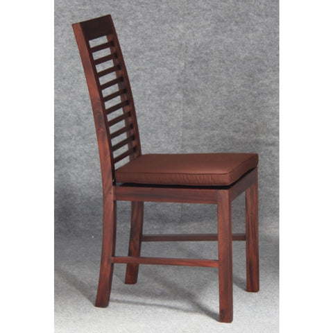 Amsterdam Dining Chair with Cushion Mahogany Colour TEK168 CH 000 HSR with Cushion