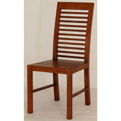 Amsterdam Dining Chair with Cushion Scandinavian TEK168 CH 000 HSR with Cushion ( Light Pecan Colour )