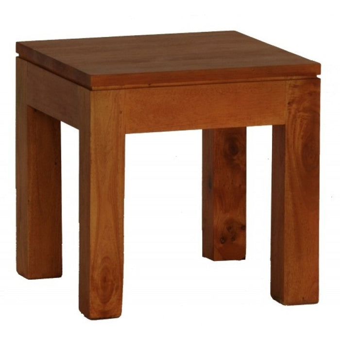 Amsterdam Bedside Table Full Solid 40cm H x 40cm W x 40cm D TEK168 LT 000 TA M Coffee Table ( Light Pecan Colour )