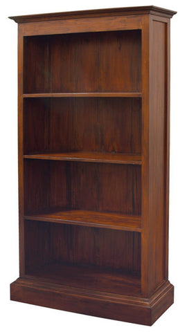 Tasmania Bookcase 4 Shelves Book Cabinet TEK168BC 000 PN ( Mahogany Colour )