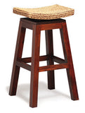 Signature Movable Seat Tall Bar Stool TEK168 BR 002 WV ( Mahogany Colour )
