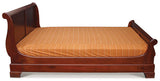 Tasmania Sledge Bed King Size fit Mattress 193cm x 183 cm  TEK168BS 000 KS ( Mahogany Colour )