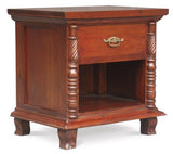 MP - Jepara French Side Table 1 Drawer 1 Open Shelf  TEK168 BS 001 CVPL ( Mahogany Color )