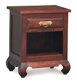 01 Member Special - China Shanghai Side Table 1 Drawer 1 Shelf TEK168 BS 001 OL RJ ( Mahogany Colour )