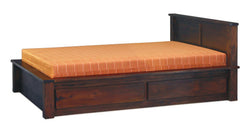Amsterdam Bed with 4 Storage Drawers at the Bottom Full Solid TEK168BS 004 TA QS ( Queen Size )