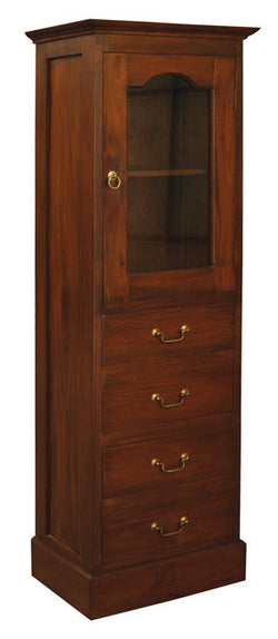Member Special - Tasman Display Cabinet 4 Drawer 1 Slatted Door 2 Shelves TEK168CB 104 GL Display Cabinet Range