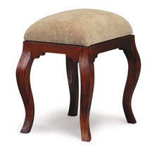 Queen AnnMary French Stool with attached cushion TEK168CH 001 QA ( Mahogany Colour )