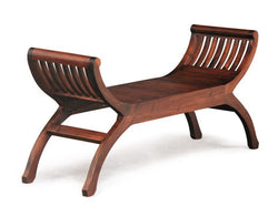 Signature Bench 2 Seater YuYu Chair TEK168CH 002 TW ( Mahogany Colour )