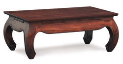 Chinese Oriental Coffee Table Rectangular Design Curve Legs 100 cm x 60 cm TEK168CT 000 OL C 100 x 60 ( Mahogany Colour )