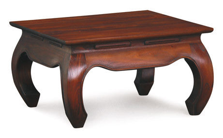 Chinese Oriental Coffee Table Square Design Curve Legs 70 cm x 70 cm TEK168 CT 000 OL C 70 x 70 ( Mahogany Colour )