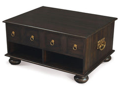 Tasmania Coffee Table Range 8 Drawers Large Rectangular Design 100 cm x 75 cm TEK168 CT 008 PN ( Pre Order 8 - 12 weeks )