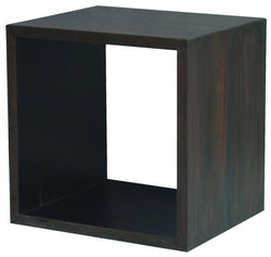 Minimalist Teak Cube Display 1 Shelf TEK168CU 001 RPN