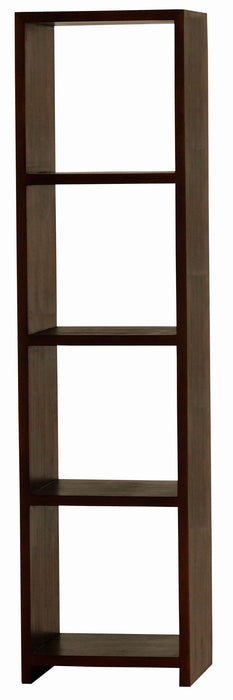 Minimalist Teak Display Cube-Vertical-Four-Shelf-Bookcase TEK168CU-004-VRPN