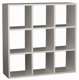 01 Member Special - Minimalist Teak Cube Bookcase Display Nine Shelf Display Divider Bookshelves TEK168 CU 009 RPN  ( Picture Illustration Colour for Reference Only ) ( Light Pecan CB110 DM Colour )