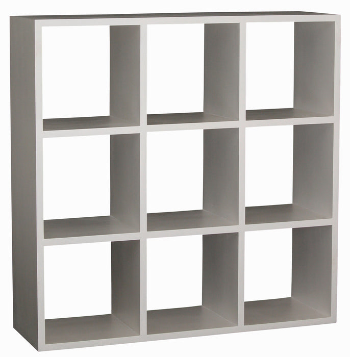 Minimalist Teak Cube Bookcase Display Nine Shelf TEK168 CU 009 RPN ( Chocolate Colour )