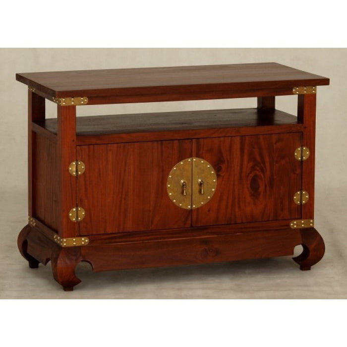 Chinese Oriental TV Console Stand 2 Door 1 Shelf TEK168 TV 200 CSN ( Picture for Reference Only) ( Light Pecan Colour  )