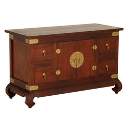 Chinese Oriental Buffet Sideboard 4 Drawer 2 Door Mahogany Colour TEK168SB 204 CSN