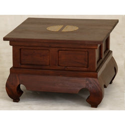 Chinese Lamp Table Coffee Table TEK168LT-60-60-CSN (Mahogany Colour )