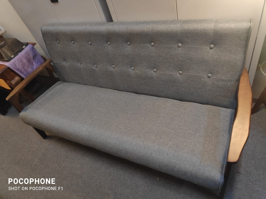 Cologne 3 Seater Royal Grey Sofa 162cm W x 63cm D x 78cm H