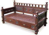 Melbourne Daybed Sofa Bed 185cm with 2 Drawers and Free Mattress  TEK168DB 7601 CV ( Mahogany Colour )