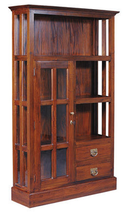 Display Cabinet Range 3 Shelf 1 Glass Door 2 Drawer Book Cabinet TEK168DC 102 GL