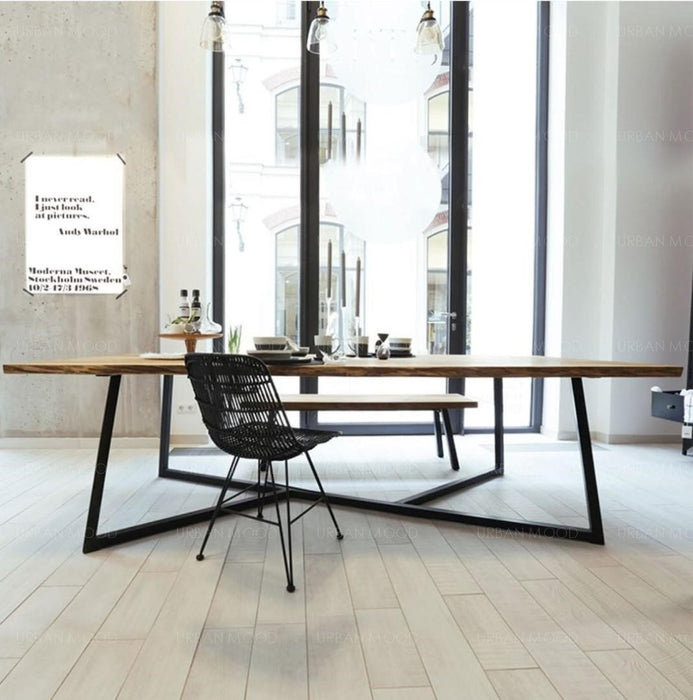 JUNI Contemporary Design Pine Wood Conference Dining Table