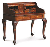 Queen AnnMary French Writing Desk with Secret Compartments Vanity Dressing Table TEK168DK 119 CV ( Mahogany Colour )