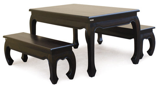 MP - Chinese Oriental Dining Bench 128 cm TEK168 BE 128 35 OL 128cm Bench ONLY ( Chocolate Colour )
