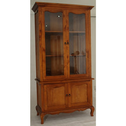EXTRA SPECIAL 01 Member Special - Mervin Solid Timber French Province Cupboard Display Hutch -French Buffet and Hutch - TEK168AR-400-FP-M ( Mahogany Colour )