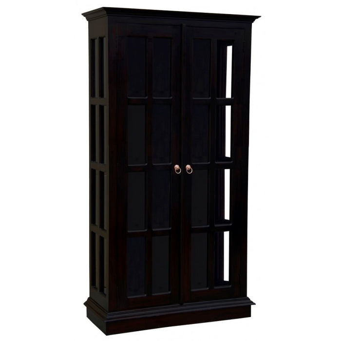 MP - Display Cabinet Range 2 Glass Door 4 Shelf Solid Wood TEK168 DC 200 GL  ( Picture Illustration Colour for Reference Only ) (Light Pecan Colour )