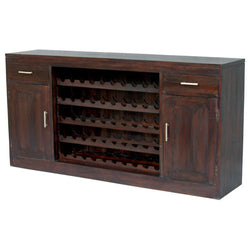 HEALDSBURG Teak 2-Door-2-Drawer-Wine-Rack-Bar Cabinet TEK168SB-202-WR