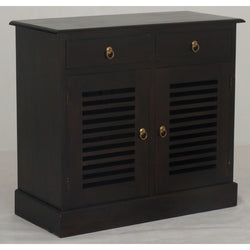 01 Member Special - Hawaii Buffet Sideboard 2 Slatted Door 2 Drawers TEK168 SB 202 HSR ( Chocolate Colour )