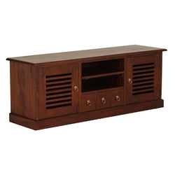 Hawaii TV Console 2 Slatted Door 3 Drawers 2 Shelves TEK168SB 203 HSR ( Mahogany Colour )