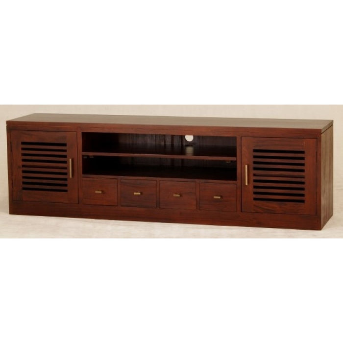 Holland TV Console 2 Slatted Door 4 Drawers TEK 168SB 204 HSR FL