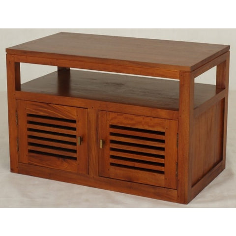 Holland TV Stand Console 2 Slatted Door 1 Shelf Scandinavnian Natural Colour TEK168TV 200 HSR FL