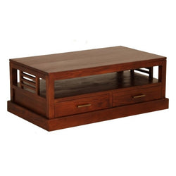 Holland Coffee Table 4 Drawers 1 Bottom Shelf Mahogany Colour TEK168 CT 004 HSR FL