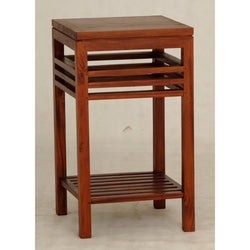 MP - Holland Tall Lamp Table Bedside Telephone Table Plant Stand TEK168LT-000-HSR-FL ( Light Pecan Colour )
