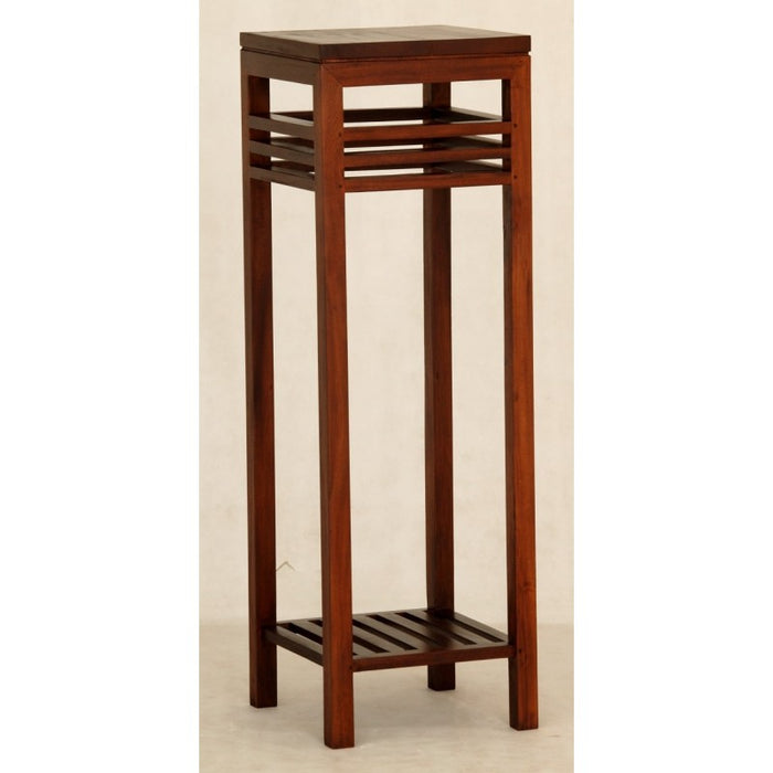 MP - Holland Tall Plant Stand Telephone Table Lamp TEK168 PS 000 HSR FL (Mahogany Colour )